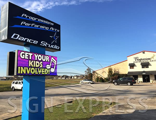 led-sign-Progression-Performing-Arts-Houston-TX-After-Sign